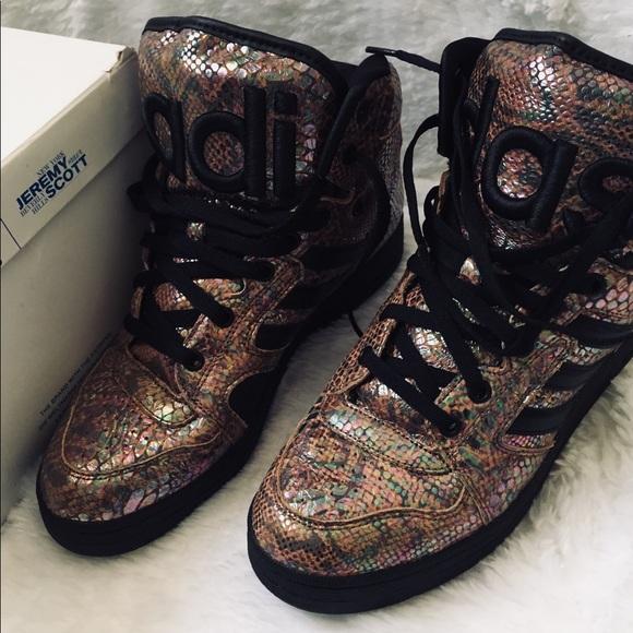 super popular 940d8 0ccba adidas Shoes | X Js Instinct Hi Rainbow Jeremy Scott | Poshmark